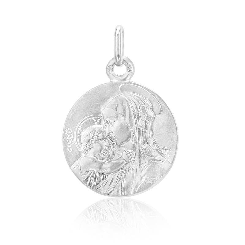 Médaille baptême or blanc – SANCTIS